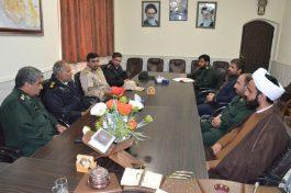 فرمانده انتظامی رفسنجان به دیدار فرمانده سپاه رفت / تصاویر