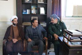دیدار مدیر جهاد کشاورزی رفسنجان با فرمانده سپاه شهرستان / عکس