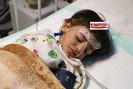 کودک آزاری دیگری در رفسنجان / ابوالفضل دو ساله از ضربه دست ناپدری در آستانه مرگ قرار گرفت + عکس
