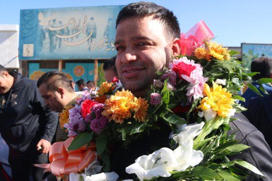 استقبال از نائب قهرمان جهان در رفسنجان/تصاویر
