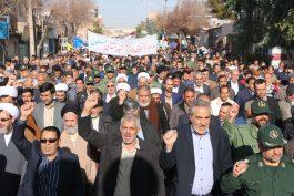 راهپیمایی مردمی در محکومیت آشوبگران در رفسنجان