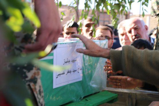پیکر جانباز شهید در رفسنجان تشییع و خاکسپاری شد / عکس