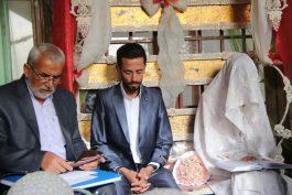 مراسم عقد یک زوج رفسنجانی در جوار مزار سید شهید میرافضلی / گزارش تصویری