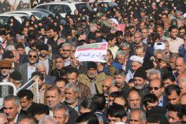 راهپیمایی مردم رفسنجان در محکومیت آشوبگران برگزار شد / تصاویر