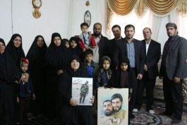 دیدار اعضای کانون هم بستگی فرزندان شاهد رفسنجان با خانواده شهید مدافع حرم / تصاویر