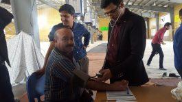 برپایی ایستگاه سلامت در رفسنجان /تصاویر