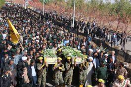 پیکر دو شهید گمنام در رفسنجان تشییع و خاکسپاری شد / تصاویر