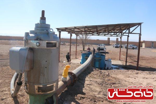 افتتاح طرح آبیاری تحت فشار (قطره ای) در روستای ده شفیع از موقوفات هلال احمر با سرمایه گزاری 4/068 در سطح 39 هکتار
