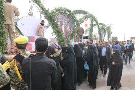 استقبال مردم رفسنجان از شهدای گمنام دفاع مقدس در قاب دوربین خانه خشتی