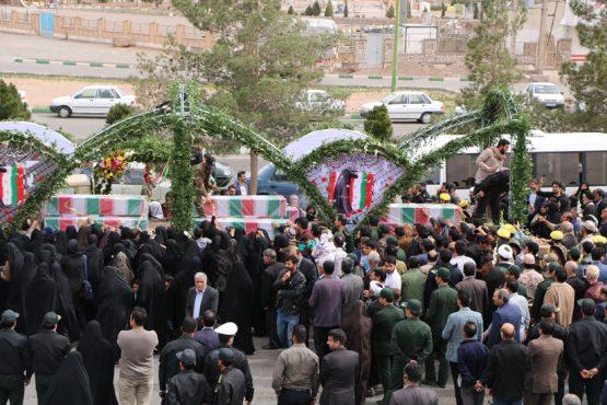 کاروان شهدای گمنام به رفسنجان رسید / گزارش تصویری