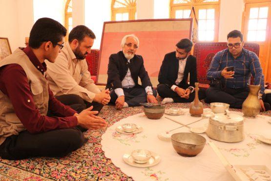 بازدید نوروزی هیات تحریریه پایگاه خبری خانه خشتی از خانه حاج اقا علی /تصاویر
