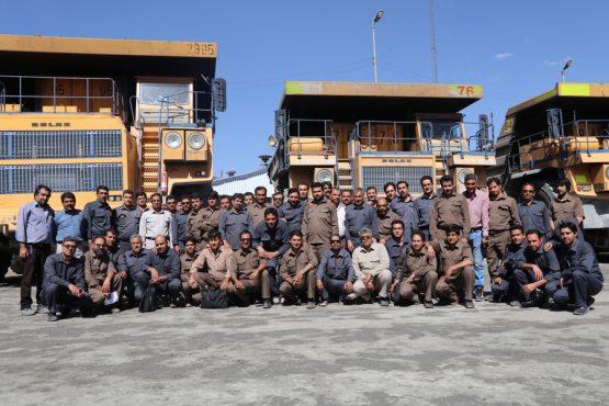 ثبت رکورد تولید ۱۲۵ هزارتن سنگ سولفوری در معدن سرچشمه / تصاویر