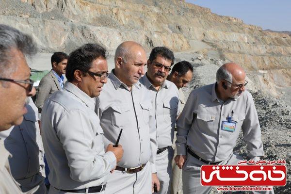 بازدید معاون امور معادن و صنایع معدنی وزارت صنعت، معدن و تجارت از مس سرچشمه