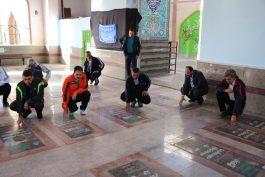 تجدید میثاق با شهدا در اولین روزهای کاری شهرداری رفسنجان/تصاویر