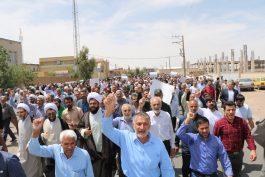 تظاهرات ضد استکباری با حضور گسترده مردم در رفسنجان برگزار شد + تصاویر