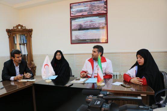 نشست خبری رئیس جمعیت هلال احمر رفسنجان / گزارش تصویری