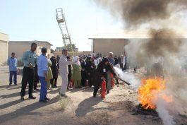 آموزشهای ایمنی و آتش نشانی به کارکنان بیمارستان علی ابیطالب(ع) رفسنجان / عکس