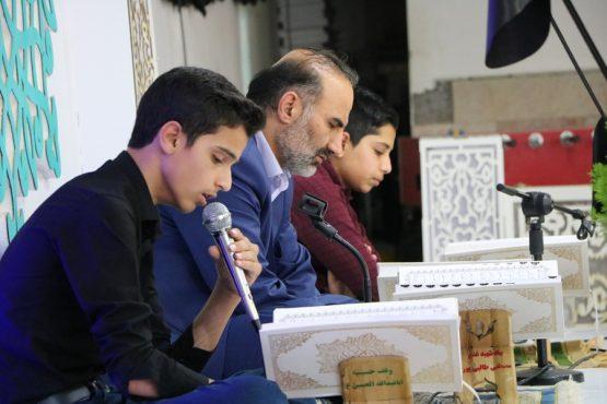 آئین جمع خوانی قرآن کریم در حسینیه اباعبدالله الحسین (ع) رفسنجان + تصاویر