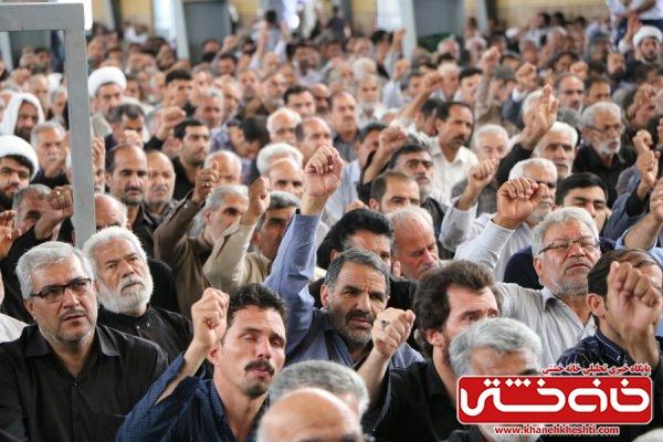 شرکت مردم روزهدار و همیشه در صحنه رفسنجان در مراسم راهپیمایی روز جهانی قدس و نماز شکوهمند جمعه