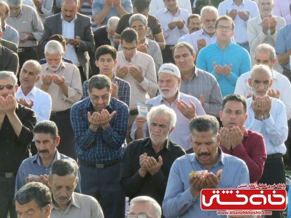 اقامه نماز عید فطر در مصلی امام خامنه ای (مدظله العالی) شهرستان رفسنجان با حضور مردم شهید پرو و مسئولین شهرستان