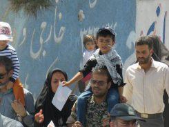 صحنه هایی که دوربین خانه خشتی از راهپیمایی روز قدس در رفسنجان به تصویر کشید