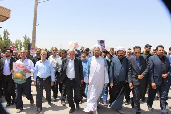راهپیمایی روز قدس در شهر صفائیه و دهستان رضوان رفسنجان / تصاویر