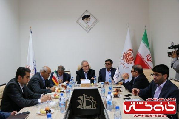 جلسه بررسی مشکلات صنعت شهرستان رفسنجان در منطقه ویژه اقتصادی رفسنجان