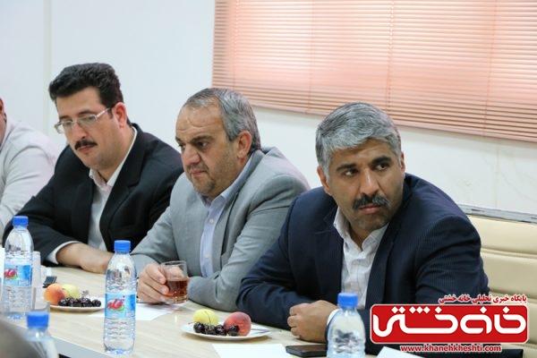 مدیر مجتمع مس رفسنجان در جلسه بررسی مشکلات صنعت شهرستان رفسنجان در منطقه ویژه اقتصادی رفسنجان