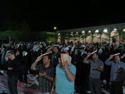 احیای اولین شب قدر در امامزاده سید غریب رفسنجان / عکس