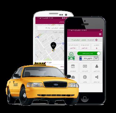 تاکسی اینترنتی آنسی در رفسنجان آغاز بکار کرد