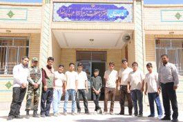 مدرسه حضرت زهرا عرب آباد به همت دانش آموزان جهادی رفسنجان نو می شود / تصاویر