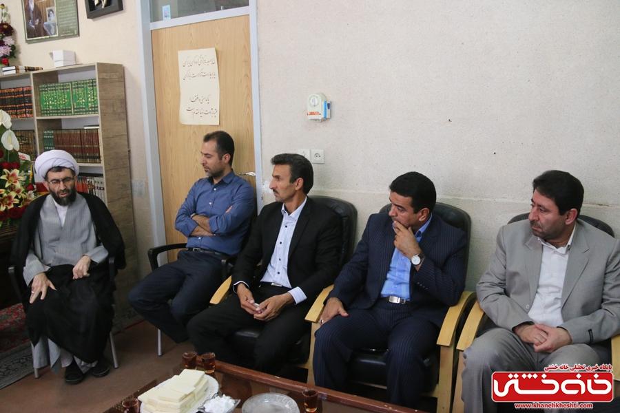 دیدار جمعی از اصحاب رسانه رفسنجان با حجت الاسلام رمضانی پور امام جمعه شهرستان رفسنجان