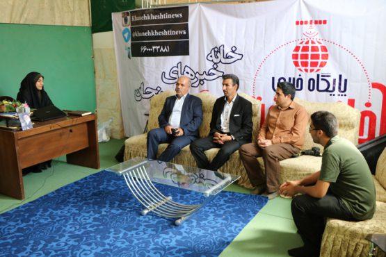 میهمانان پایگاه خبری خانه خشتی در روز خبرنگار / عکس