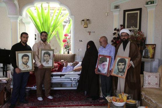 دیدار هیئت کربلا با خانواده شهیدان کدخدایی