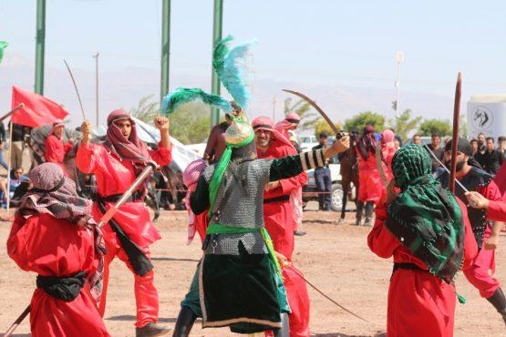 برگزاری مراسم تعزیه خوانی واقعه کربلا در روستای ناصریه رفسنجان + تصاویر