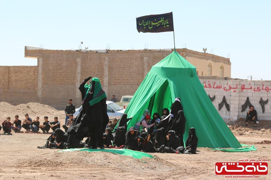 مراسم تعزیه خوانی واقعه کربلا در روستای ناصریه رفسنجان به همت هیئت سقای دشت کربلا