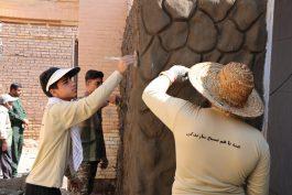 تعمیر و بازسازی خانه عالم روستای اکبرآباد هجری رفسنجان به همت گروه جهادی شهید دهقانی / عکس