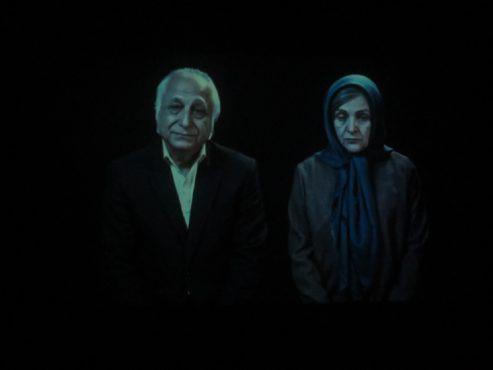 اکران فیلم دوباره زندگی در گلستان امین رفسنجان با حضور گلاب آدینه و شمس لنگرودی