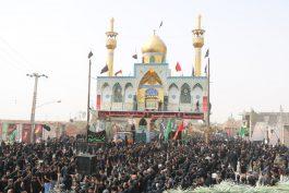 گلدسته های قاسم آباد رفسنجان میزبان عزاداران حسینی / عکس