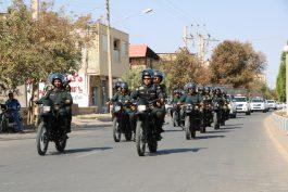 یگانهای موتوری نیروی انتظامی رفسنجان رژه رفتند + تصاویر