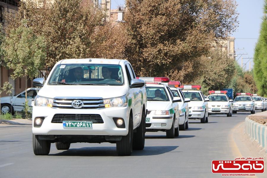 رژه موتوری با حضور یگان های موتوری فرماندهی نیروی انتظامی شهرستان رفسنجان