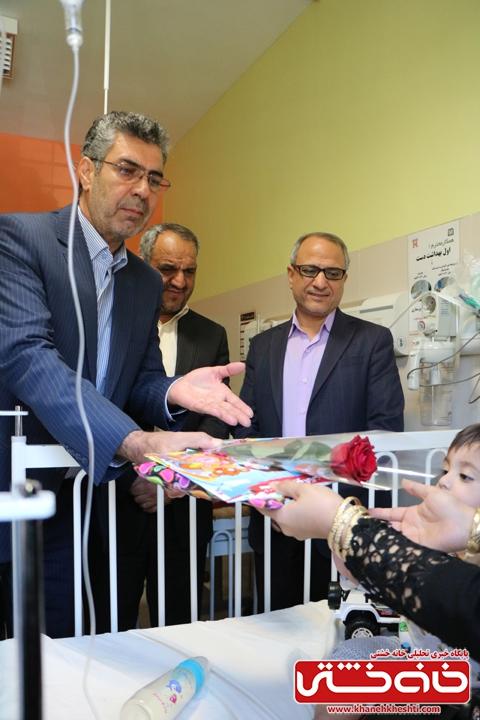 عیادت از کودکان بیمار در بیمارستانعلی ابن ابیطالب (ع) شهرستان رفسنجان