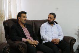 دیدار مسئول کانون بسیج رسانه رفسنجان با برادر رسانه ای شهید رنجبر / عکس
