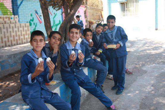 روز جهانی تخم مرغ بهانه ای برای دیده شدن مدرسه شهید مکرمی رفسنجان / عکس