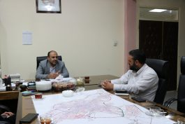 دیدار مسئول کانون بسیج رسانه با شهردار رفسنجان / عکس