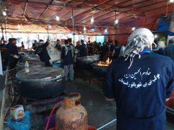 خدمات رسانی ۱۵ ساله ی موکب بی بی شهربانو رفسنجان به زوار اباعبدالحسین(ع) / عکس
