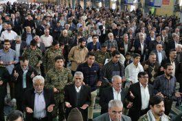 حضور منسجم بسیجیان ، برپایی میز خدمت و ویزیت رایگان در مصلی امام خامنه ای رفسنجان / عکس