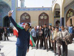 حضور با صلابت پرچم داران نسل چهارمی انقلاب در راهپیمایی ۱۳ آبان در رفسنجان / عکس