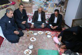 دلجویی خادمین مسجد مقدس جمکران در رفسنجان از خانواده های شهید مدافع حرم / عکس