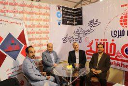نماینده رفسنجان میهمان غرفه خانه خشتی در نمایشگاه مطبوعات استان / عکس